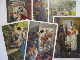 Literatur Goethe, Hermann Und Dorothea, 6 Karten Im Umschlag (42923) - Illustrateurs & Photographes