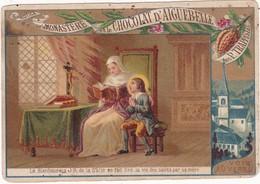 Images Religieuses : Le Bienheureux Jean-Baptiste De La Salle Se Fait Lire : Chocolat D'aiguebelle Des P. Trappistes - Andachtsbilder