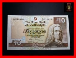 SCOTLAND 10 £ 22.2.1989  P. 348 RBS  Large Size  AU \ UNC - 10 Pounds