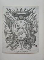 Ex-libris Héraldique Italien XVIIIème - Giambattista MUNARINI (Modène) - Ex-libris