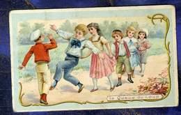 Chromo Guerin-Boutron Jeu Queue Du Loup Children Enfant Herold Trade Card 1900 - Guerin Boutron