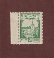 ALLEMAGNE - SUISSE - Journée De L' AVIATION De LAUSEN - Flugpost . Pilot 50 Borrer  Vignette Neuve **  De 1913 - 2 Scann - Airmail