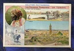 Chromo Pautauberge Colonies Françaises Tunisie Tunisia Port Bizerte Tunis Berger - Liebig