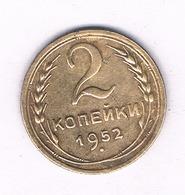 2 KOPEK 1952 CCCP RUSLAND /3395/ - Russland