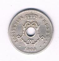 5 CENTIMES 1904 VL  BELGIE /3399/ - 1865-1909: Leopold II