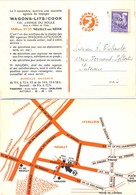 CP COMMERCIALE WAGONS-LITS COOK – NEUILLY-SUR-SEINE - PRÉOBLITÉRÉ COQ GAULOIS 8 C. Violet YT 119 - 1921-1960: Periodo Moderno