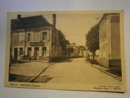 CPA ,Brosses Grande Rue Café De La Poste,Yonne 89,voyagée 1943,TBE - Autres Communes