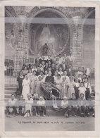 PHOTO SETE LA PAROISSE DU SACRE-COEUR DE SETE A LOURDES LE 18 JUILLET 1950 ( 24cm X 18 Cm ) - Sete (Cette)