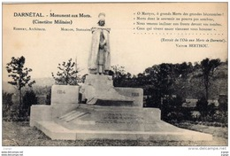 DARNETAL  Monument Aux Morts (Cimetière Militaire). TBE - Darnétal