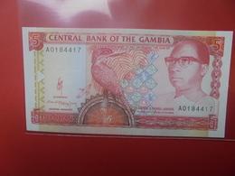 GAMBIE 5 DALASIS 1991-95 PEU CIRCULER/NEUF (B.12) - Gambia