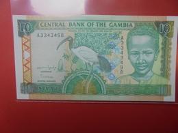 GAMBIE 10 DALASIS 1996 PEU CIRCULER/NEUF (B.12) - Gambia