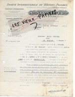 34 - Hérault - SETE - Facture ALQUIES - Wagons Foudres, Transports Internationaux - 1923 - REF 145A - 1900 – 1949