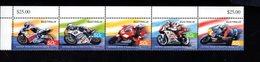 986894720 SCOTT 2310A POSTFRIS MINT NEVER HINGED EINWANDFREI (XX) - STRIP GRAND PRIX MOTORCYCLE RACING - Mint Stamps