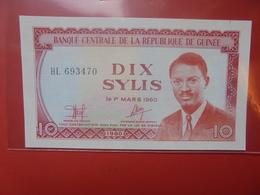 GUINEE 10 SYLIS 1980 PEU CIRCULER/NEUF (B.12) - Guinea