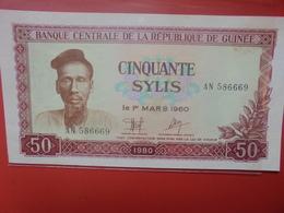 GUINEE 50 SYLIS 1980 PEU CIRCULER/NEUF (B.12) - Guinea