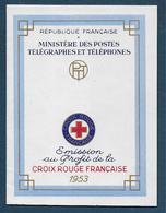 Carnet CROIX ROUGE  1953  **  - Cote : 160 € - En Parfait état - Rotes Kreuz