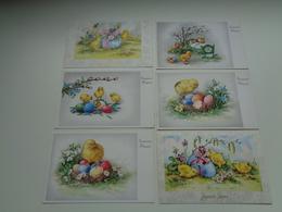 Beau Lot De 35 Cartes Postales De Fantaisie  Pâques    Mooi Lot Van 35 Postkaarten Fantasie  Pasen  - 35 Scans - 5 - 99 Cartes