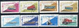 Y85 CUBA 1965 1120-1127 Cuban Transport. Cars. Ships Fleet. Buses Railway. Locomotives - Trains