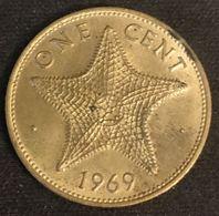 BAHAMAS - 1 CENT 1969 - KM 2 - Étoile De Mer - ( One Cent ) - Bahamas