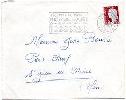 RHONE - Dépt N° 69 = LYON RP (2e ARR.) 1961 = FLAMME Non Codée =  SECAP  Illustrée 'Sécurité Au Travail CONGRES PARIS' - Oblitérations Mécaniques (flammes)
