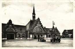 ALBERT  La Gare Belles Voitures Anciennes RV Beau Timbre 1F - Albert