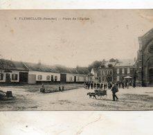 Flesselles -   Place  De  L' église. - Autres Communes