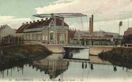 HAZEBROUCK  Le Pont Des Meuniers Dur Le Canal Collorisée RV - Hazebrouck