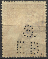 Regno D'Italia, 1928, Perfin, S.E.B., Su Emanuele Filiberto, 50c., Usato - 1900-44 Vittorio Emanuele III
