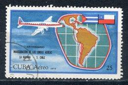 Y85 CUBA 1972 1781 Airmail. 1st Anniversary Of Havana-Santiago De Chile Air Service - Cuba