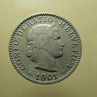 Switzerland 20 Rappen 1901 - Schweiz