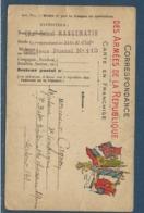 Guerre 14-18 : Cachet Lieut. Colonel Mangematin 311e Régiment D'infanterie Secteur Postal 112 Sur Carte FM 8 Drapeaux - Guerra De 1914-18