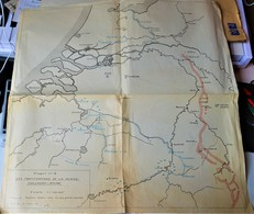 Rare Carte Les Fortifications De La Plaine Hollando-Belge échelle 1/500 000e - 1939-45