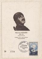 20A761 MAURICE NOGUES RENNES Créateur De La Route Aérienne FRANCE INDOCHINE 1951 Rousseurs  2 SCANS - 1950-59