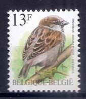 BELGIE * Buzin * Nr 2533 * Postfris Xx * WIT  PAPIER - GROENE GOM - 1985-.. Oiseaux (Buzin)