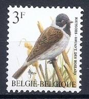 BELGIE * Buzin * Nr 2425 * Postfris Xx * HELDER WIT  PAPIER - GROENE GOM - 1985-.. Oiseaux (Buzin)