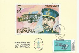 PORTUGAL , TARJETA POSTAL CONMEMORATIVA  EXPAMER 87 - 1910-... République