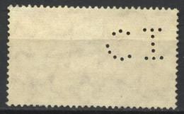 Italia, 1956, Perfin, C.I, Su Anniversario Della Repubblica, 80 L., Usato - 6. 1946-.. Repubblica