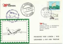 PORTUGAL , SOBRE CONMEMORATIVO  TAP  AÑO  1983 - 1910-... République