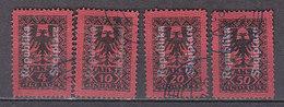 K2108 - ALBANIA ALBANIE TAXE Yv N°22/25 - Albania