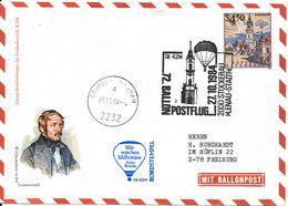 Austria Postal Stationery Balloon Cover Stockerau 27-12-1984 - Ballonpost