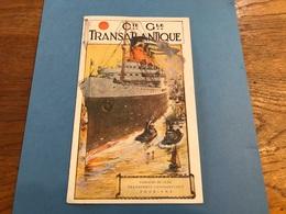 Brochure Publicitaire Cie Générale Transatlantique Paquebots France Et Rochambeau Année 1950 - Publicités