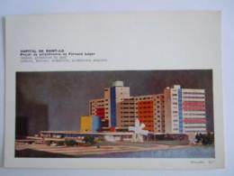 50 Manche Hopital De Saint-Lo Projet De Polychromie De Fernand Léger Maquette 2 Cartes - Saint Lo
