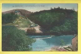 * Bouillon (Luxembourg - La Wallonie) * (A. Suzaine Sedan, Nr 79) La Crete Saint Pierre Et Le Vicinal, Tram, Quai, Canal - Bouillon