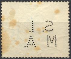 Regno D'Italia, 1938, Perfin, S.I.M.A, Su Proclamazione Dell'impero, Dante Alighieri, 25c., Macchie, Usato - 1900-44 Vittorio Emanuele III