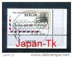 GERMANY  Mi.Nr. 2954 Tag Der Briefmarke - ESST -BERLIN -Eckrand Unten Rechts - Used - BRD