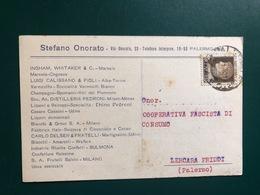 PALERMO STEFANO ONORATO  INGHAM WHITAKER MARSALA COGNAC CALISSANO VERMOUTHS VINI DEL PIEMONTE DISTILLERIE 1930 UVA VINI - Palermo