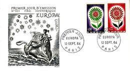 FRANCE  EUROPA CEPT 1964  FDC - Europa-CEPT