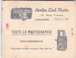 LIBOURNE ,,,HERLEC - CINE - PHOTO ,,,, TOUTE LA PHOTOGRAPHIE ,ENCADREMENT_,,,   , FOURNITURES POUR LES ARTS - Supplies And Equipment
