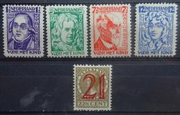 NEDERLAND   1928   Nr. 220 - 223      Licht Spoor Van Scharnier *   CW 45,00 - Nuovi