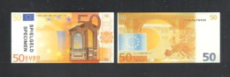 BANKBILJET 50 EURO - SPEELGELD  - 8 Cm X 4 Cm  (BB 31) - [ 8] Finti & Campioni